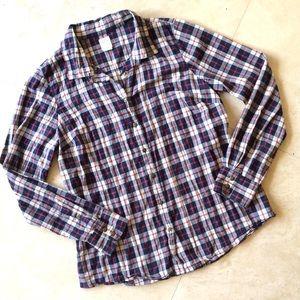 J Crew Perfect Shirt Plaid Long Sleeve Top 12